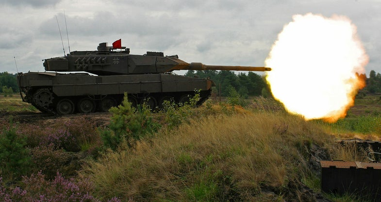 A German Leopard 2A6 Tank