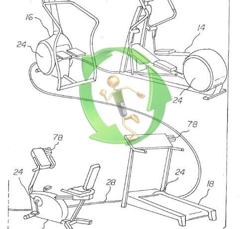 illustrated four cardio machines