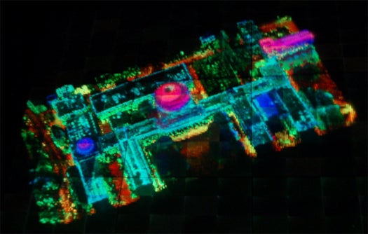 DARPA Creates Interactive 3-D Holographic Map Table