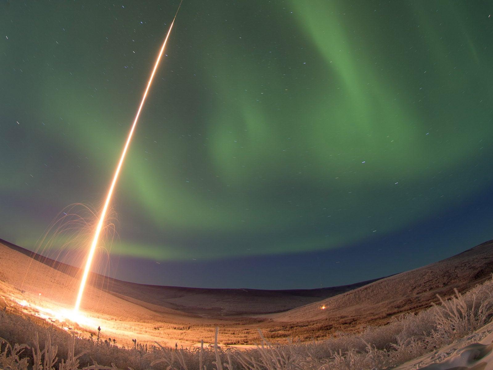 Watch A Rocket Blast Off Into An Aurora [Video]