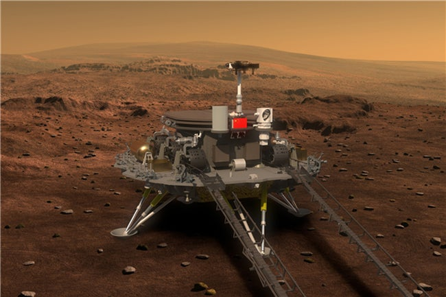 China's Mars rover and probe
