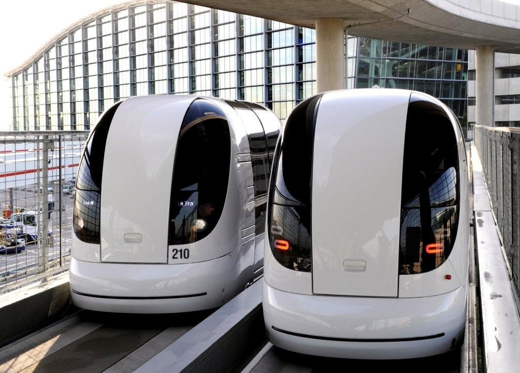 Driverless Pod Cars Transport Passengers Around London's Heathrow Airport