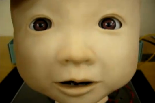 Video: 'Affetto,' A Disembodied Japanese Baby Head, Takes Uncanny Valley to New Depths