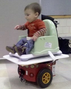 Wii-Powered Robot Chair Lets Infants Zoom Around On Their Own