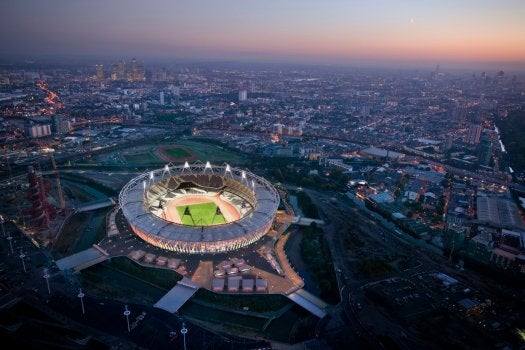 How to Construct the Lightest, Most Open Olympic Stadium Ever Built
