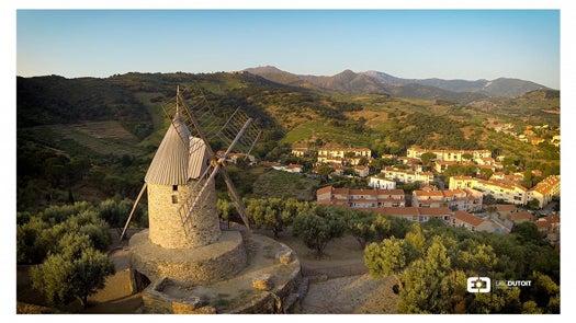 Moulin de Collioure in the Pyrenees, France Eric Dutoit via Dronestagram