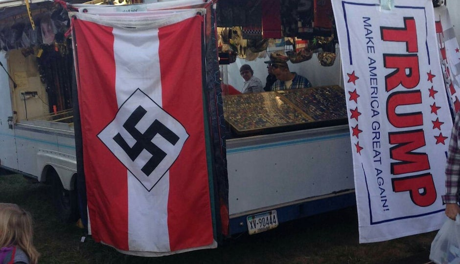 trump and nazi flags