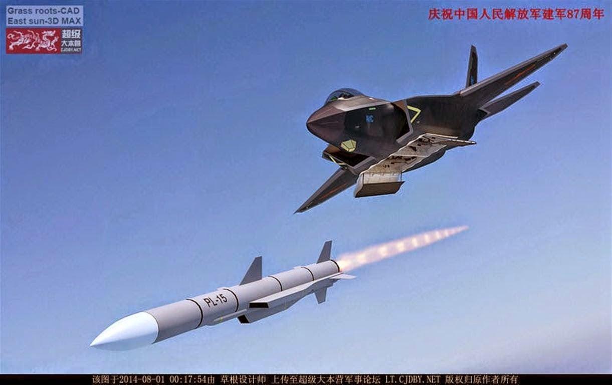 China J-31 Stealth Fighter PL-15 Missile