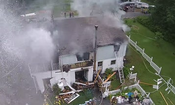 Watch A Drone Get Soaked By A Firefighter