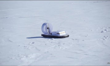 Watch A Toy Hovercraft Glide Over Snow