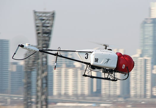 The six-foot-long drone