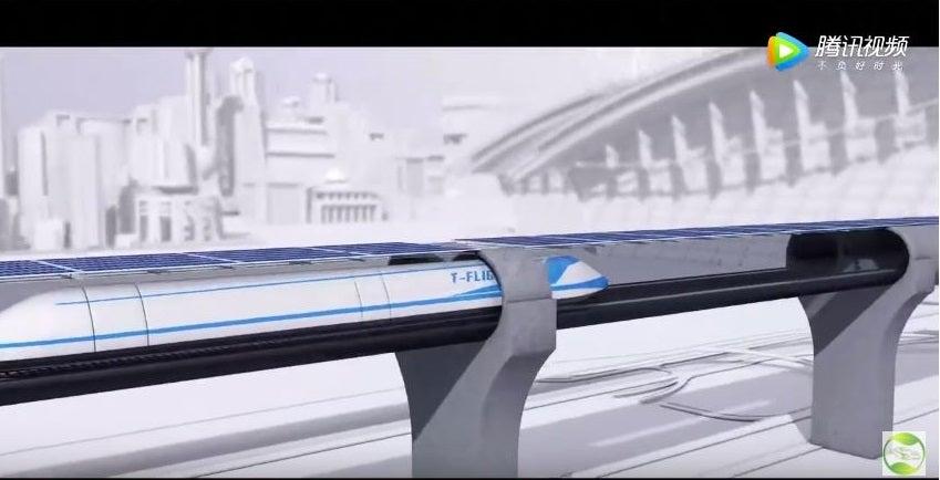T Flight CASIC China Hyperloop Maglev