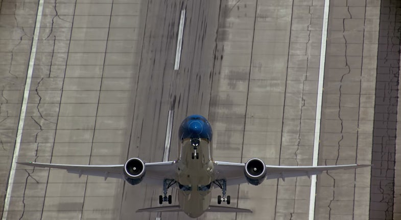 Watch This Dreamliner Go Vertical After Takeoff