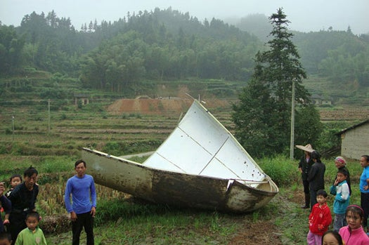 Chinese Space Debris Rains Down on Chinese Villages