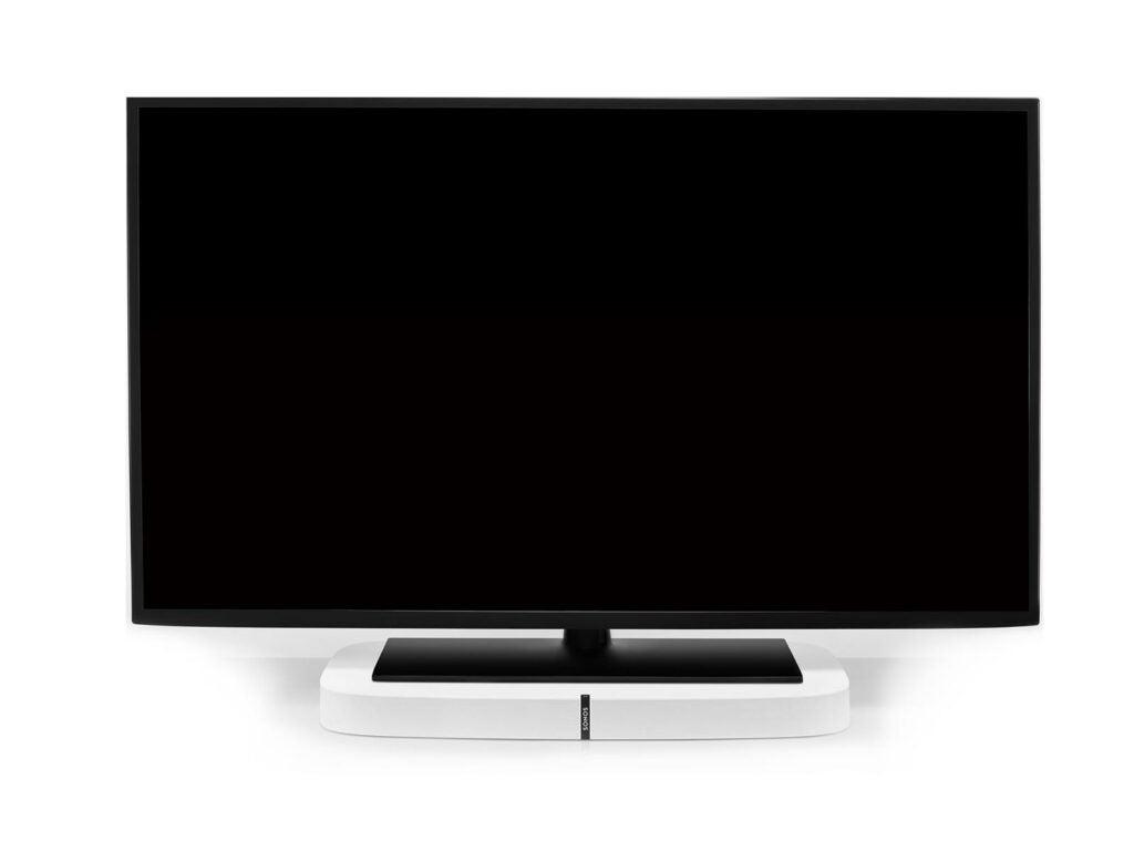 Sonos Playbase sitting under a TV