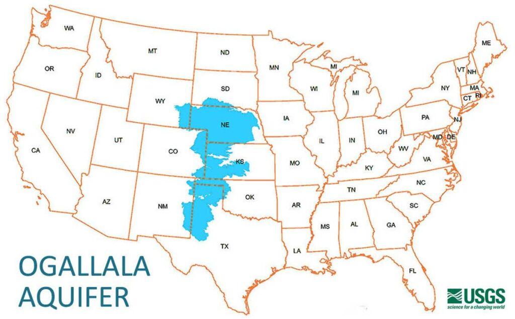 Ogallala aquifer map