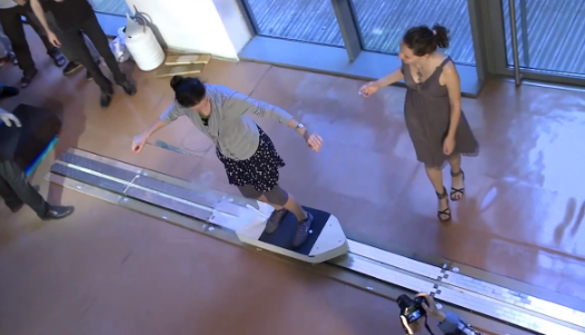 Video: Supercooled Quantum Levitating Hoverboard Lets Students Glide on Air