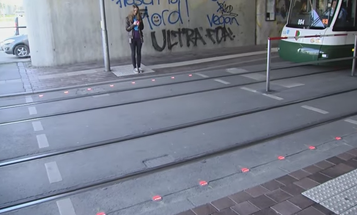 German Texters Get Street Signals In The Sidewalk