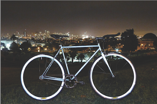 Mission lumen bicycle at night