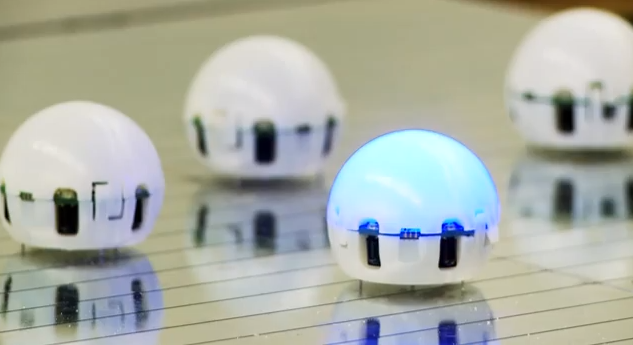 Ping Pong Ball-Sized Robots Can Swarm Together To Form A Smart Liquid