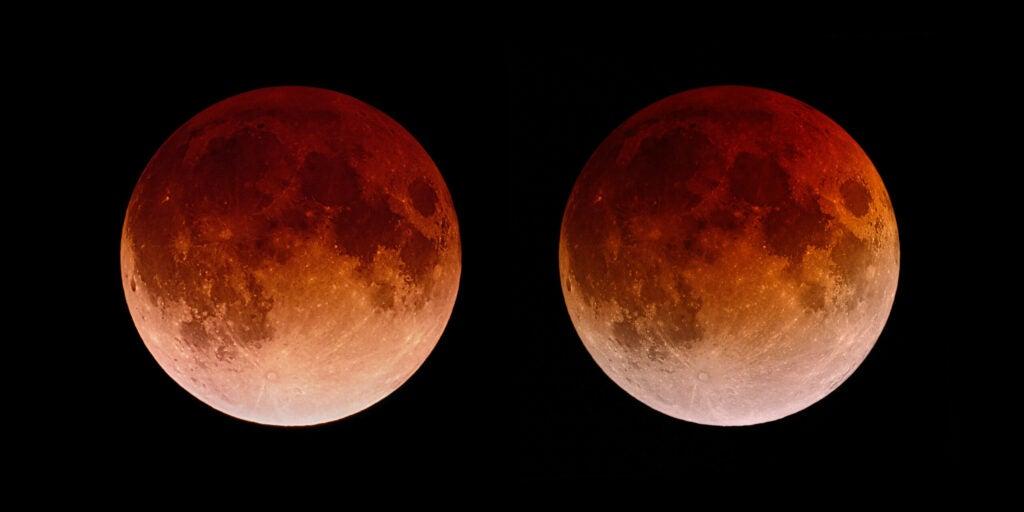 stereogram of the lunar eclipse