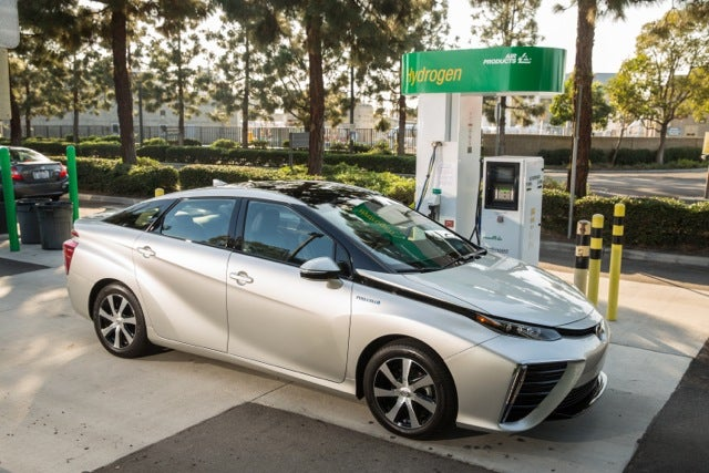 2016 Toyota Mirai photo at hydrogen fueling station