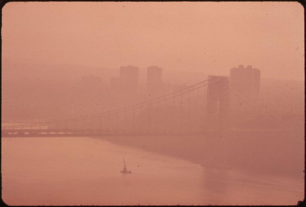 smog views of George Washington Bridge