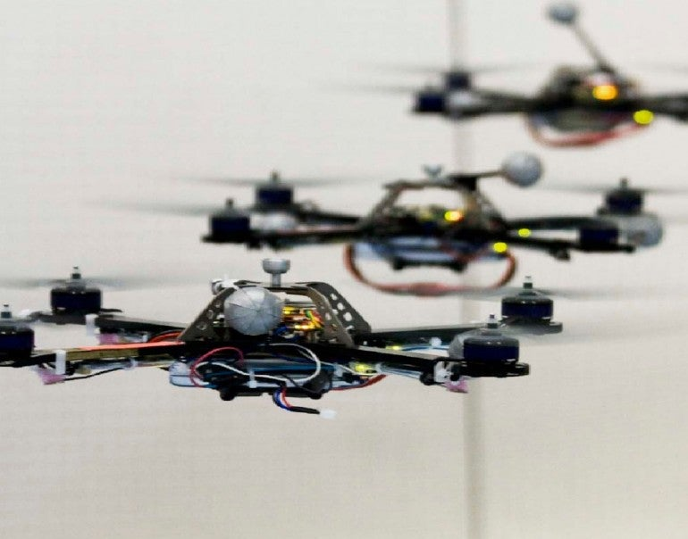 An Art Installation Sculpted by a Team of Swarming Autonomous Flying Robots