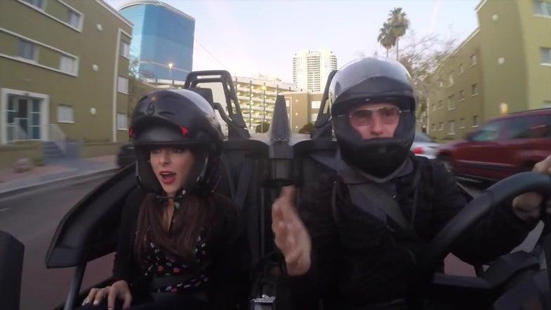 CES 2015: Zipping Around Las Vegas In The 3-Wheeled Polaris Slingshot [Video]