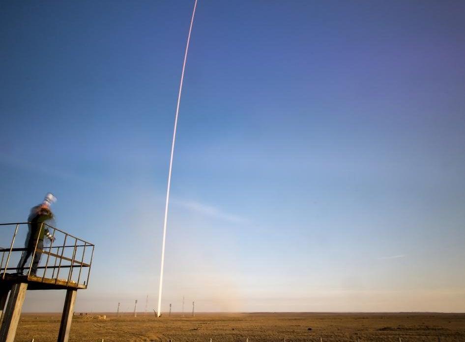 A Gorgeous, Long-Exposure Launch Shot