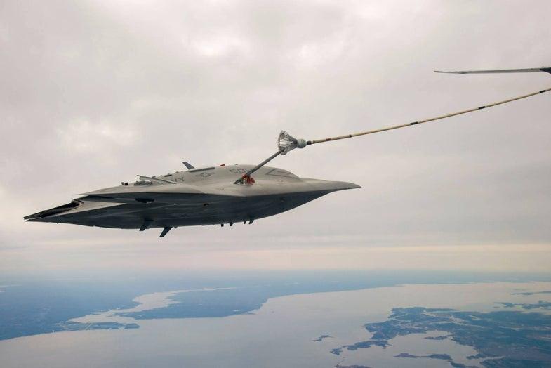 X-47B Refuels In Mid-Air