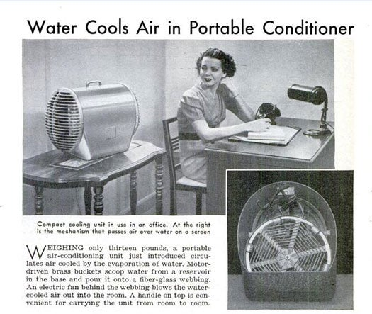 Portable Air Conditioner: August 1940