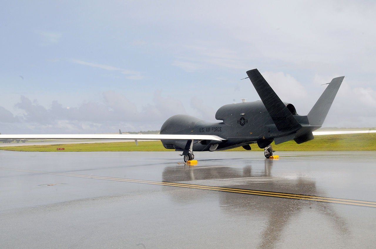 Monsoon Conditions In Guam Send Global Hawks To Okinawa