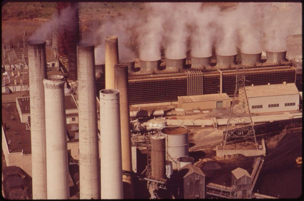 power plant billowing smoke