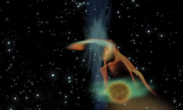 Distant Black Hole Wakes Up To Grab A Light Snack