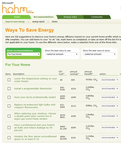 Tap Into The Grid With Hohm, Microsoft's Home Power Management Tool
