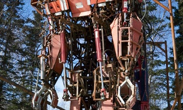 Army Mechanic's Garage Tinkering Yields 18-Foot Mecha Exoskeleton