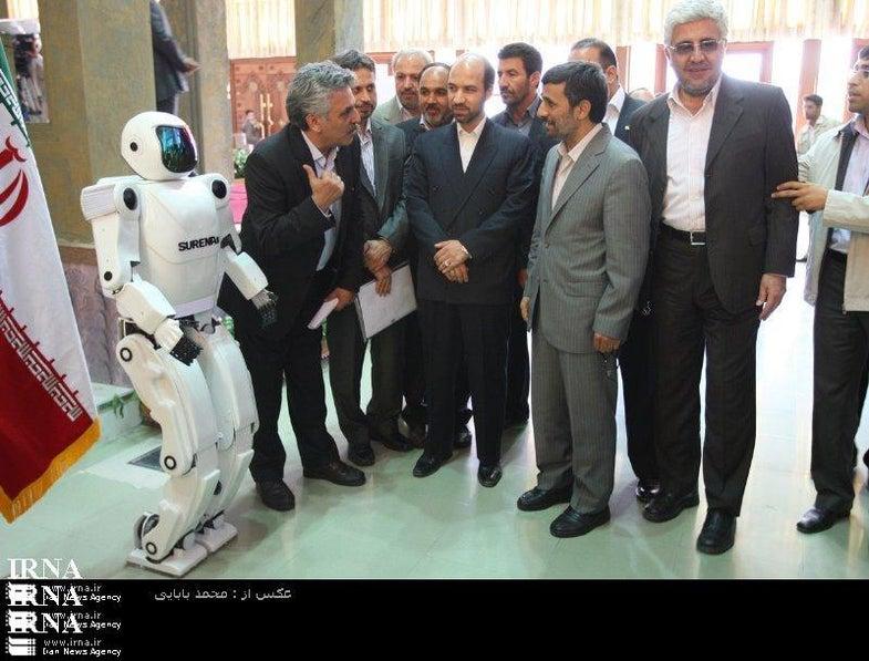 Ahmedinejad Unveils Iranian Humanoid Robot