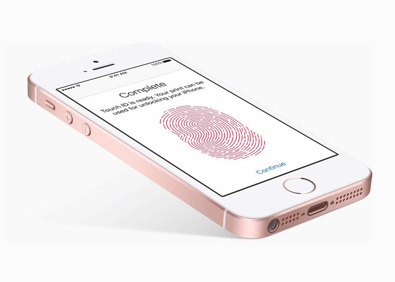 Apple's new iPhone SE.