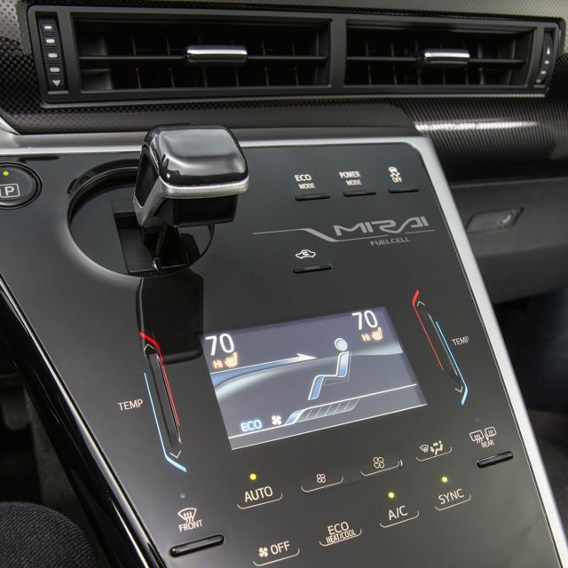 2016 Toyota Mirai center console
