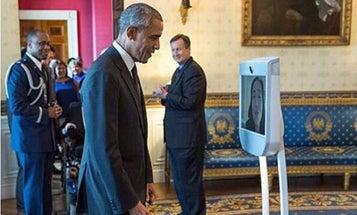 Robot Visits White House