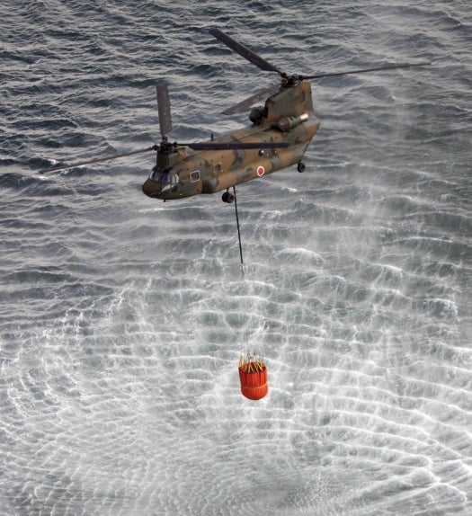Air Support Assists In Japanese Nuclear Crisis