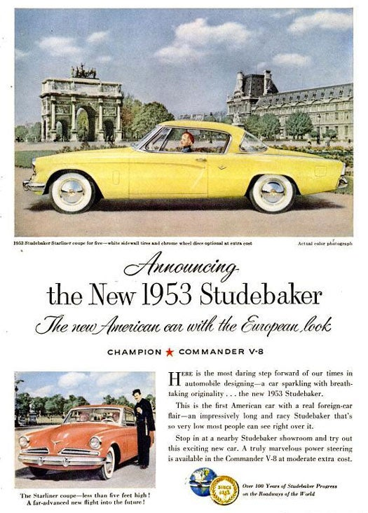 Studebaker Starliner: March 1953