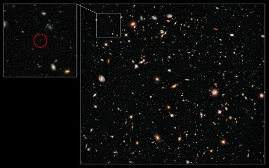 Hubble Glimpses the Most Distant Object Ever Seen, A Galaxy 13 Billion Light Years Away