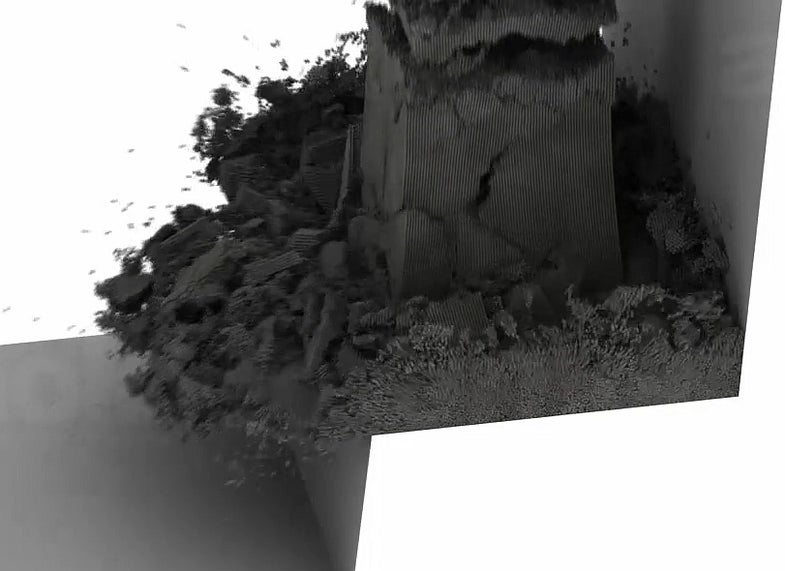 Video: Some Very Impressive Computer-Generated Falling Dirt and Flying Neckties