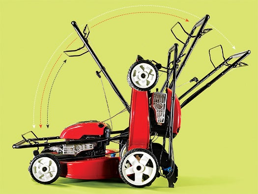 The First Lawn Mower That Sits Upright