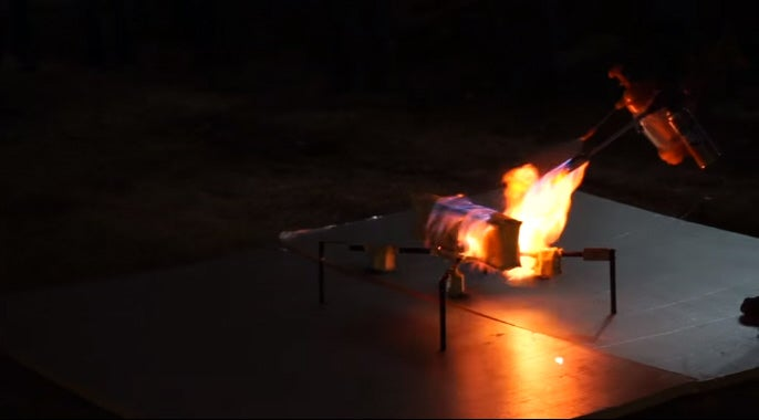 Watch This Fireproof Drone Not Burn