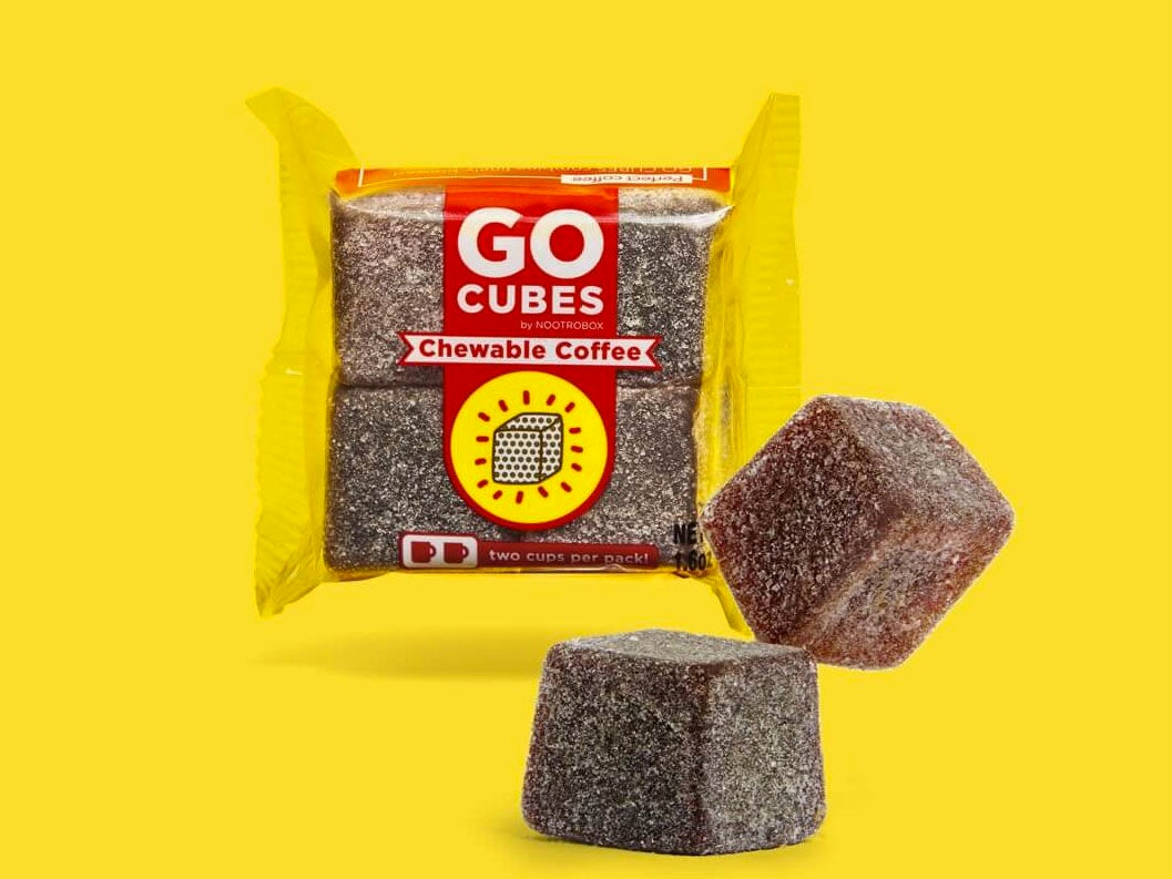 Chewable coffee candies