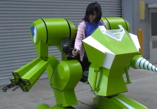 What Could Possibly Go Wrong With This Child-Piloted Robot War Machine?