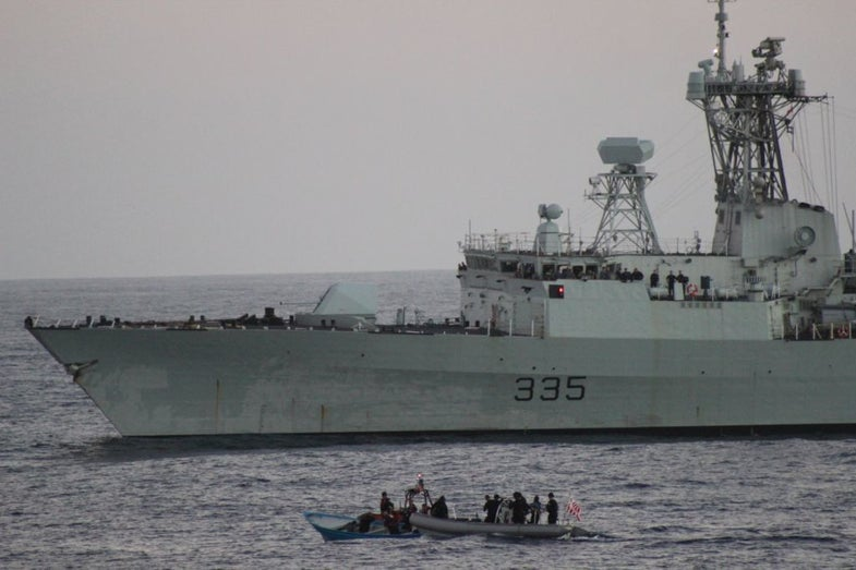Coast Guard Vessel Intercepts Smugglers